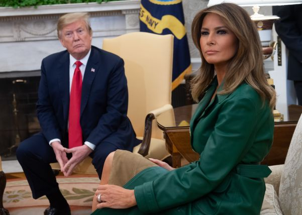 Watch Video of Donald Trump Leaving Melania Trump Outside of the White  House and Her Shrug Response