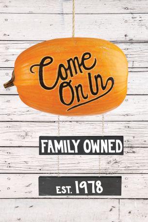 pumpkin crafts for fall sign