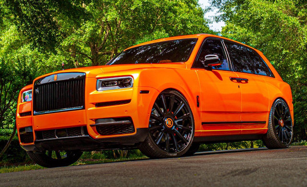 Rolls Royce Cullinan Gets Dawg Pound Orange Customization