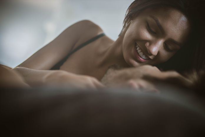 romantic moment in bed