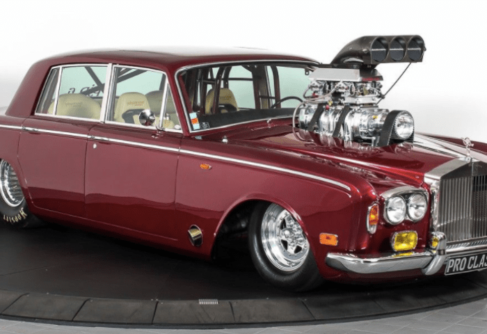 This Absurd Tube Frame Rolls Royce Drag Car Can Sit Four People