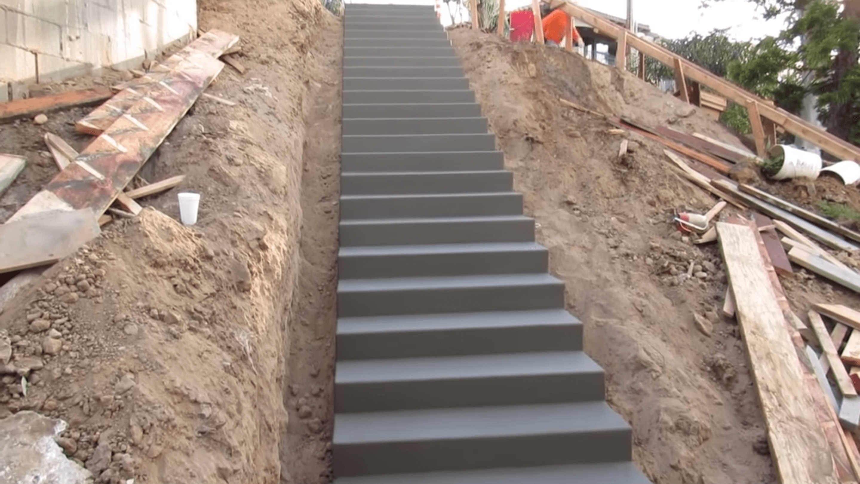 How To Build Stairs Watch Concrete Stairway Construction Video | Building A Handrail For Concrete Stairs | Steel Handrail | Brick | Deck Railing | Outdoor Stair | Precast Concrete