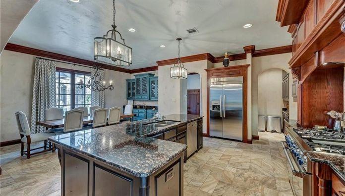 Selena Gomez Fort Worth, Texas Mansion Kitchen