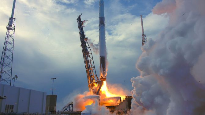 SpaceX launch that carried crystal experiments to the International Space Station. NASA