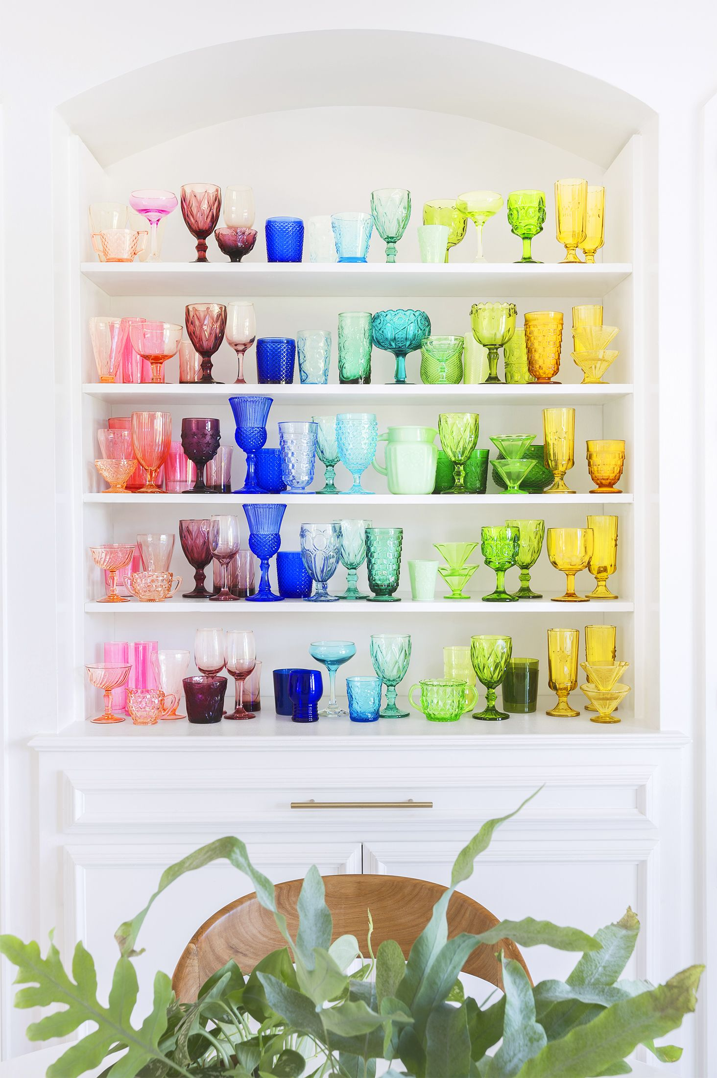 Spring Decor Ideas - Colored Glass