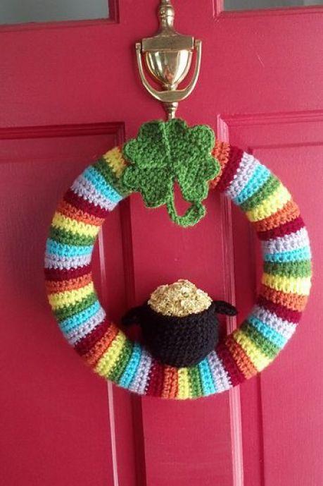 st patricks day decorations crochet wreath