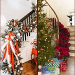 21 Christmas Stair Decoration Ideas How To Decorate With Garland