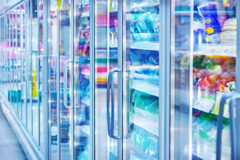 Store refrigerator in freezer aisle