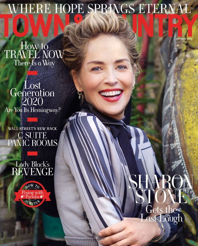sharon stone town  country magazine october 2020