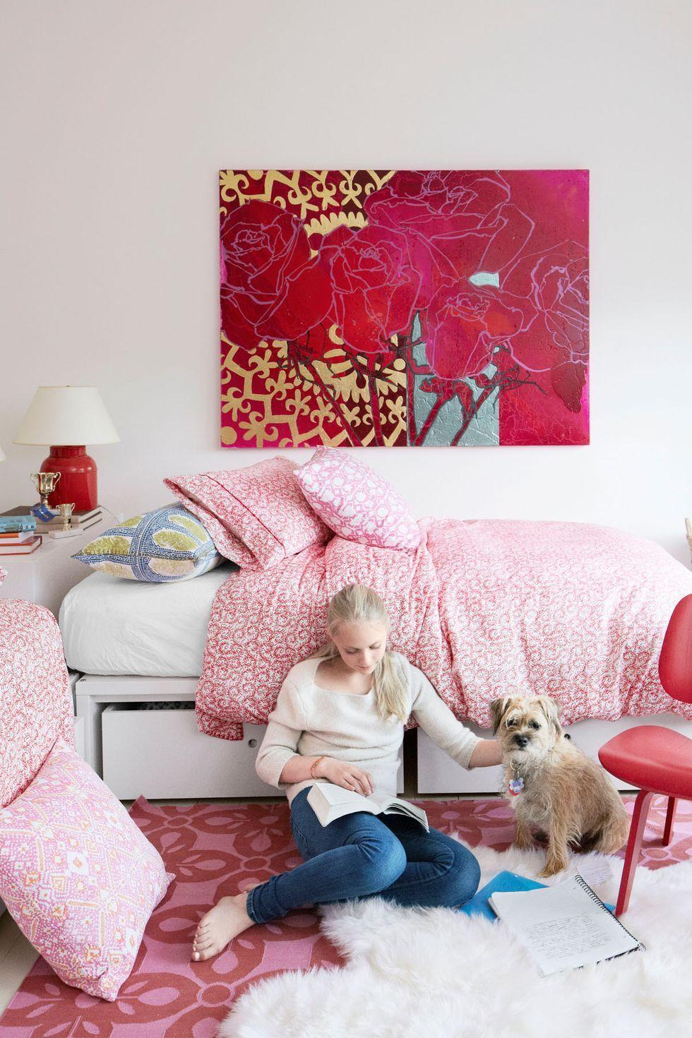 teen bedroom ideas - color pop