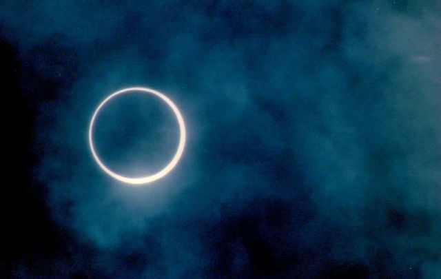 the rare 10 may annular eclipse appears over cleve