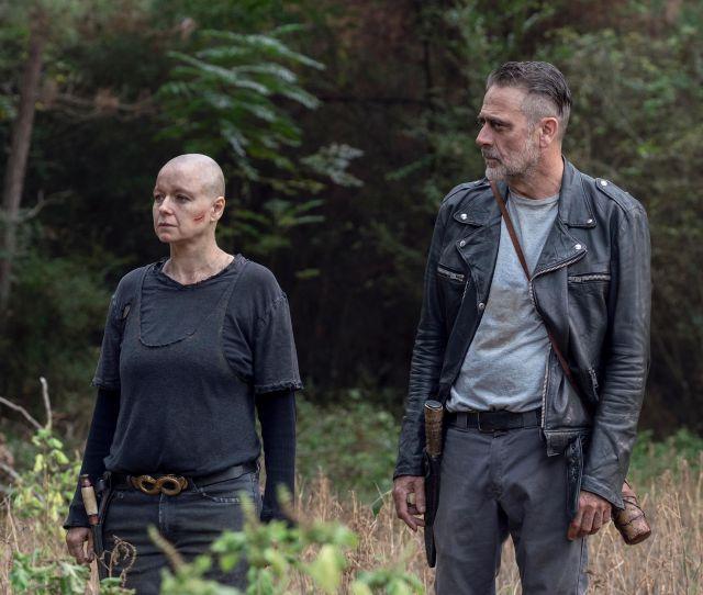 Walking Deads Melissa Mcbride On Filming Carol And Negan Scenes