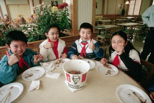 Thumbs-Up for Fried Chicken in Beijing