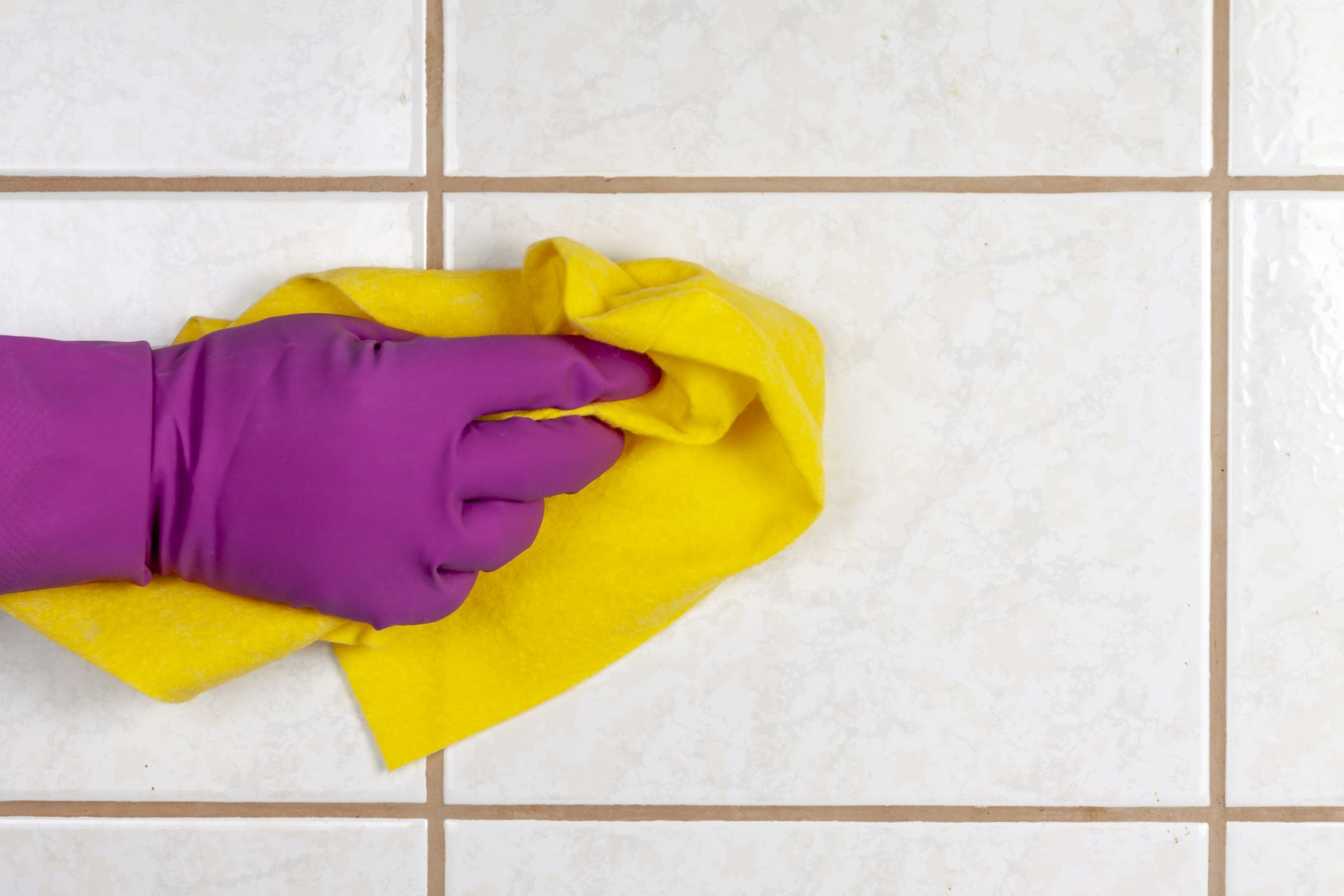 bathroom grout cleaning hack