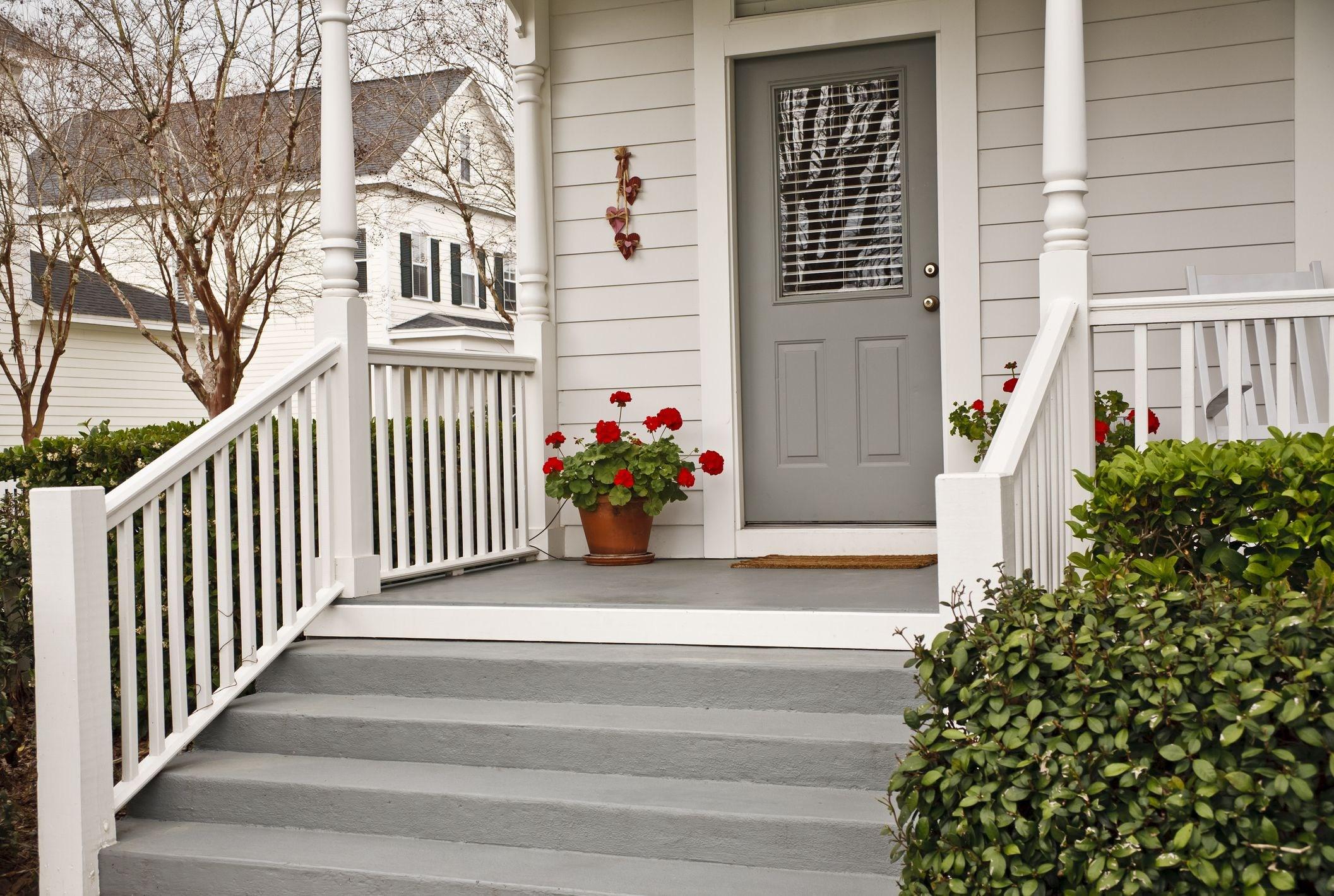 10 Front Door Plant Ideas Best Plants For Your Entrance | Home Entrance Steps Design | Exterior | Sophisticated | Angled | Bungalow Entrance | Concrete