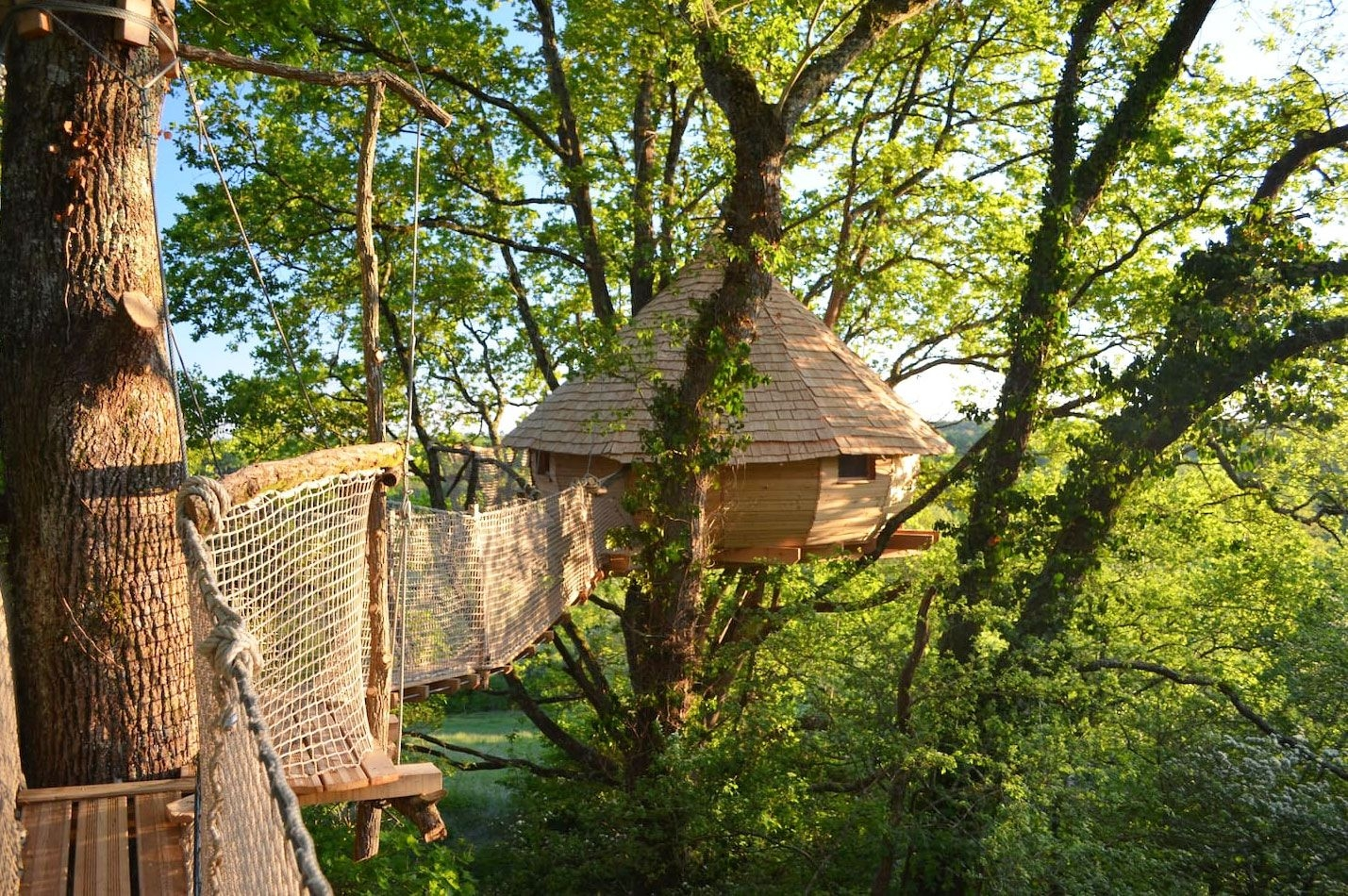 32 Amazing Treehouses You Can Rent In 2020 Best Tree House Vacations   Spiral Staircase Around Tree Trunk   Stair Case   Nelson Treehouse   Staircase Design   Robert Mcintyre   Canopystair