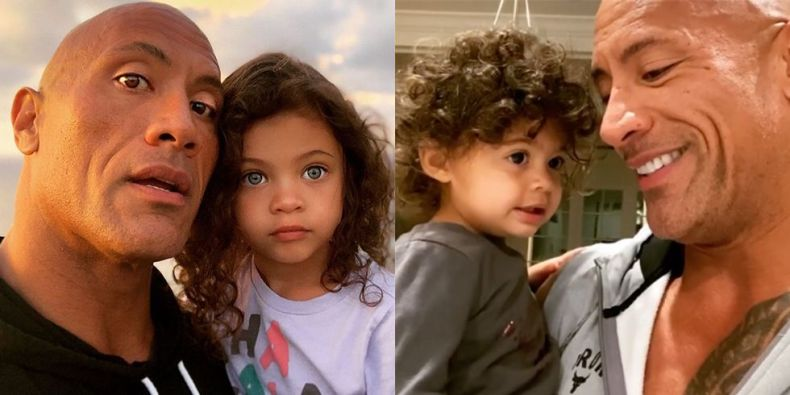 The Rock, Dwayne Johnson, Honors Daughters on International Women's Day