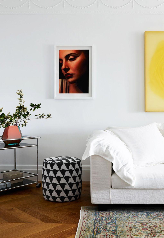 Room, Furniture, Interior design, Wall, Orange, Bedroom, Yellow, Floor, Living room, Home,