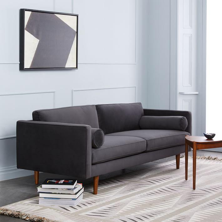 mid century modern monroe sofa