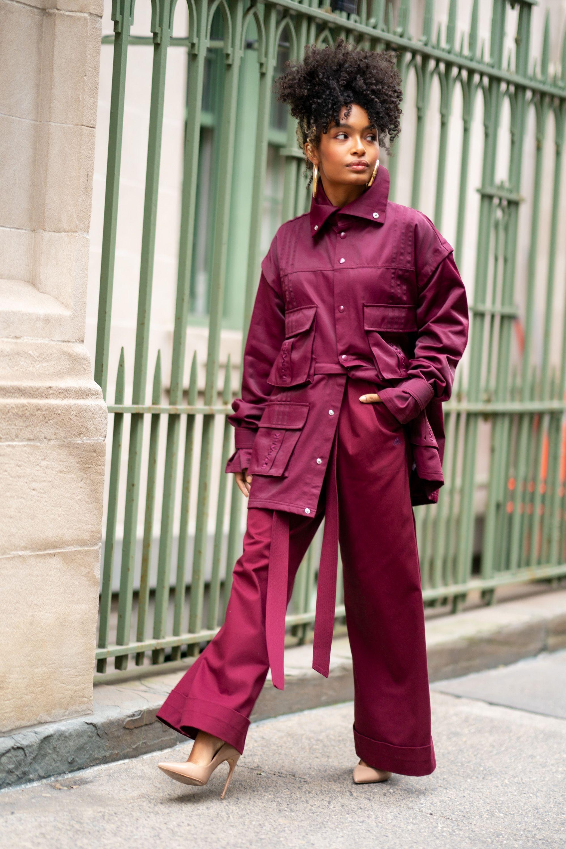 Yara Shahidi Wears Ivy Park X Adidas And Nanushka What The