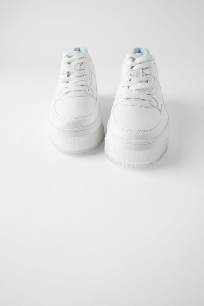 White sneakers from Zara