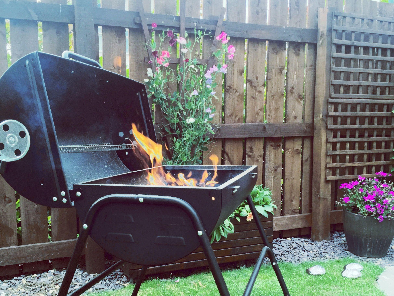 BBQ in pretty garden