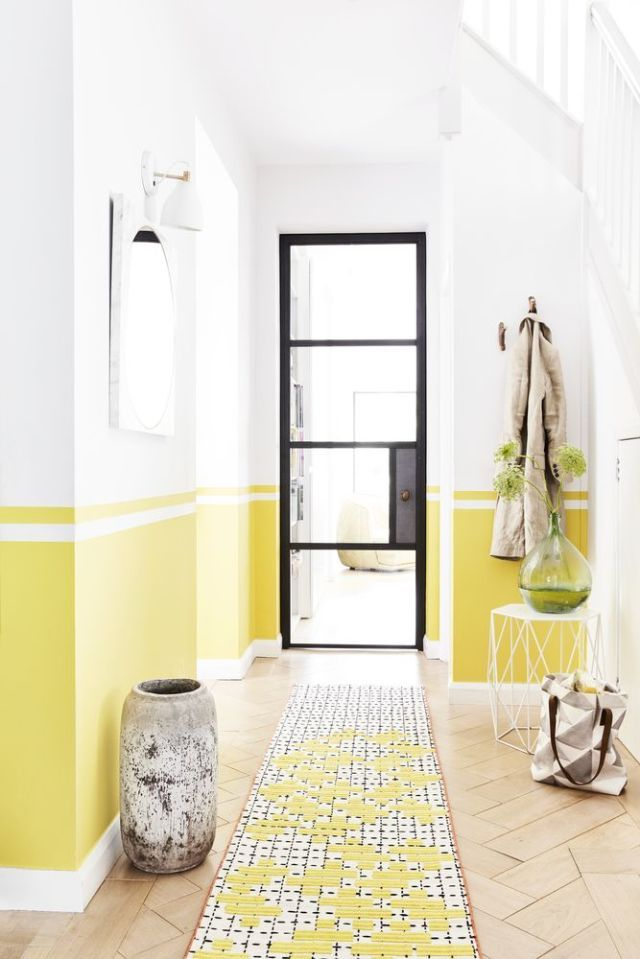18 Best Hallway Decorating Ideas   Colour  Furniture  Flooring and     Style inspiration  Sunshines shades   yellow  Styled by Lorraine Dawkins