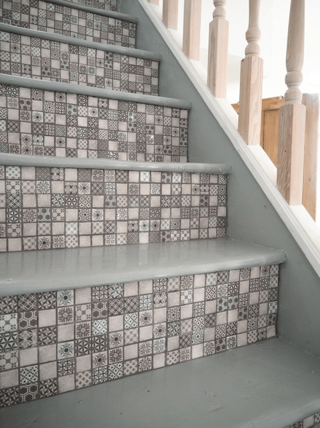 Using Tiles To Decorate Stair Risers Is The Next Big Interior | Stairs Tiles Design For Home | Readymade Staircase | Duplex House | Style Kerala | Railing | Porcelain