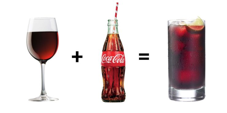 Image result for wine and coke