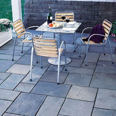 how to build patio of stone easy