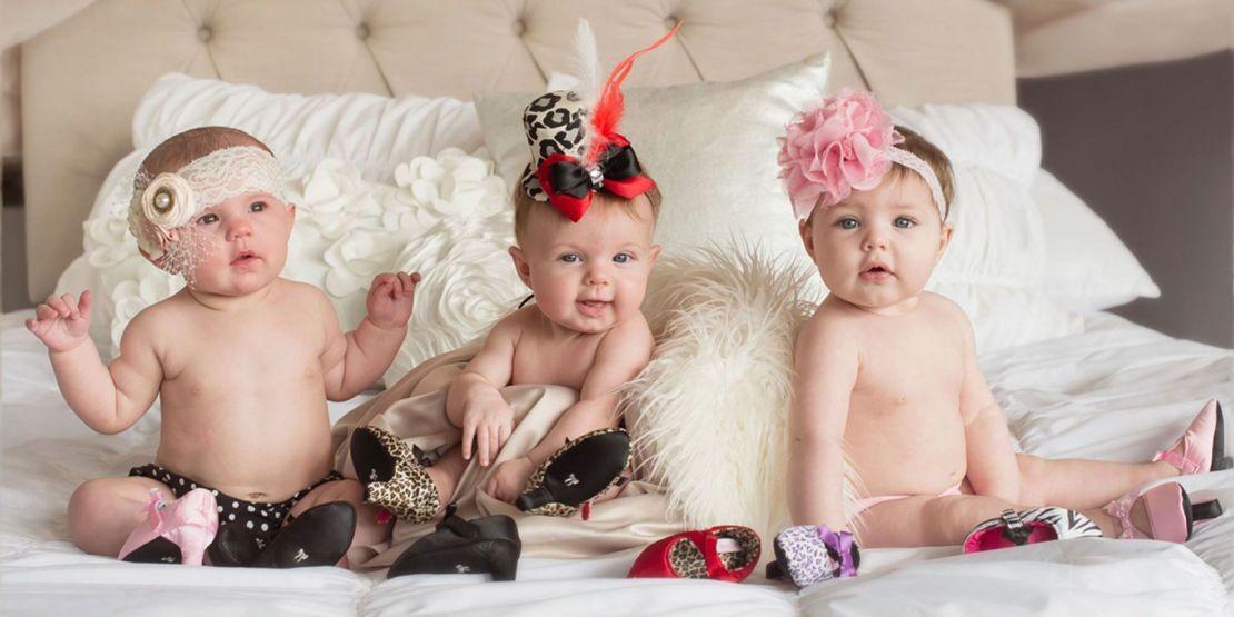 babies wearing heels