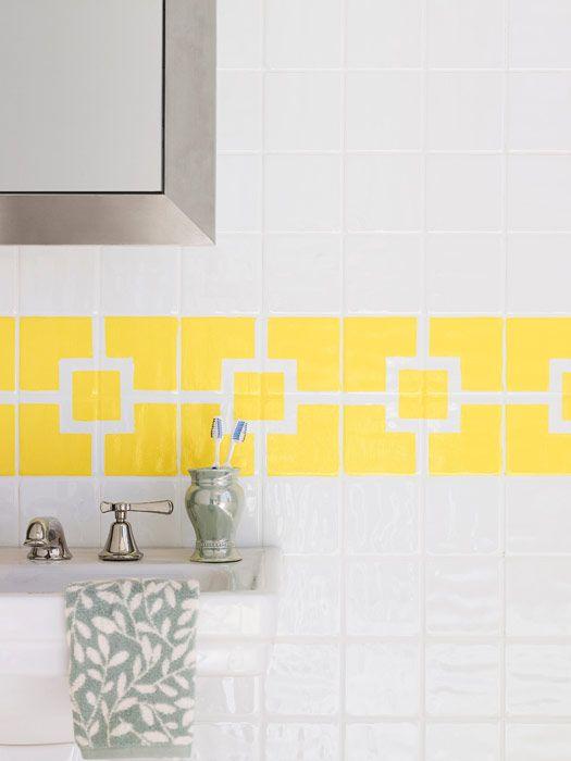 how to paint ceramic tile diy