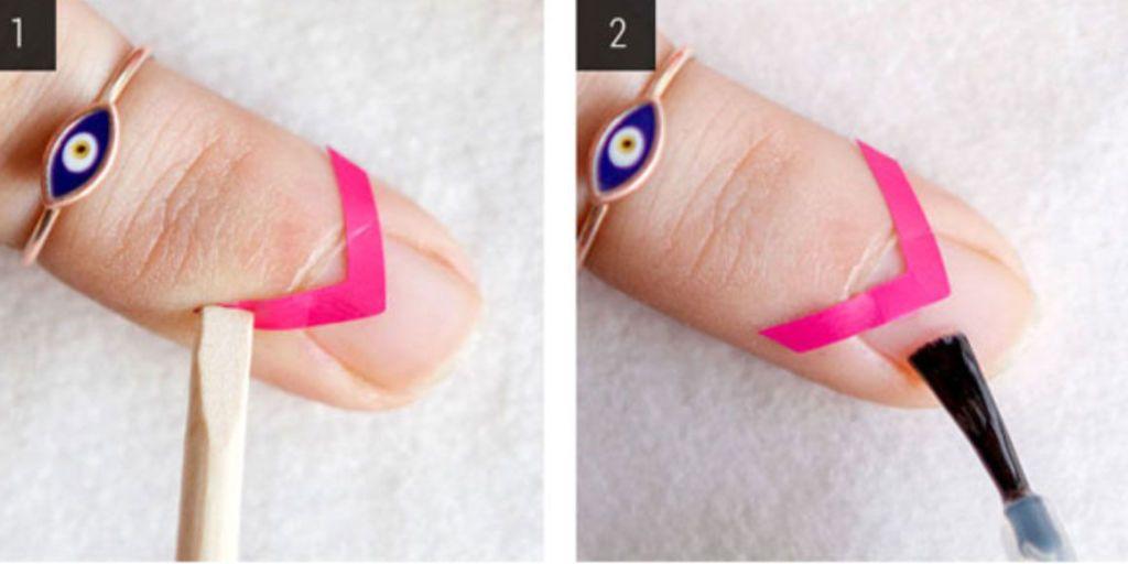 Nail Art How To Modern Negative E Mani
