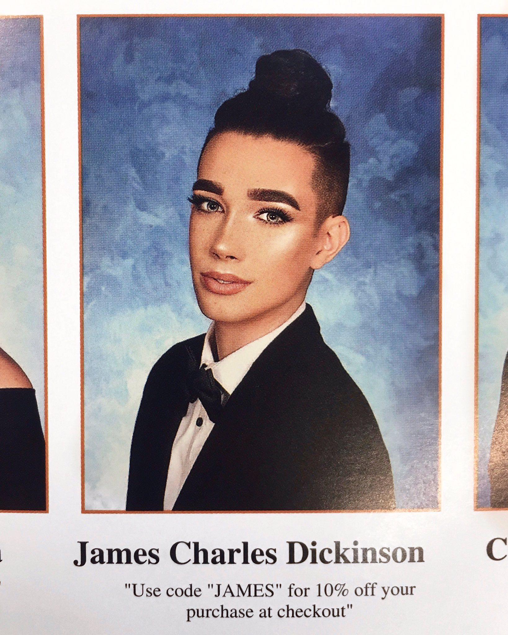 James Charles Senior Yearbook Quote Photos