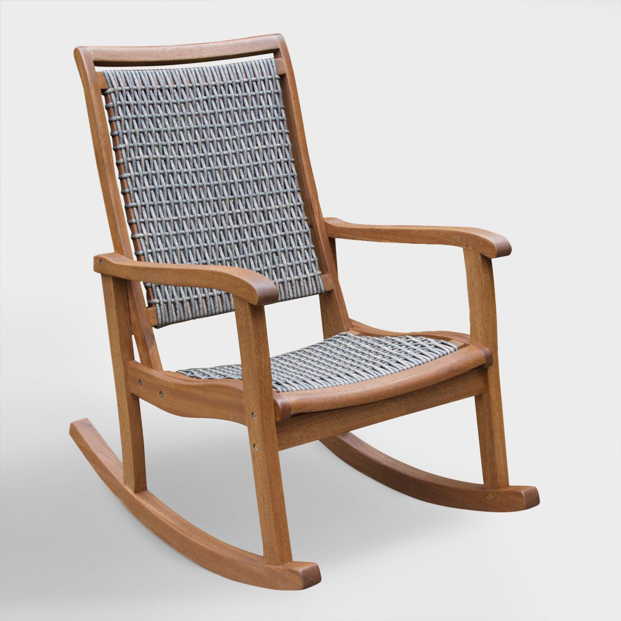 Wicker Wood All Weather Rocking Chair