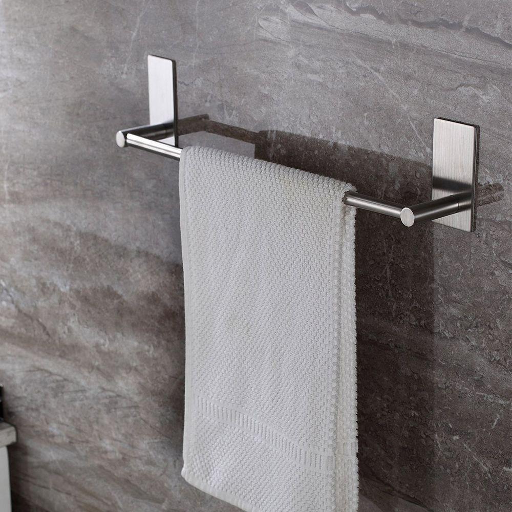 taozun adhesive 16 inch bathroom towel bar