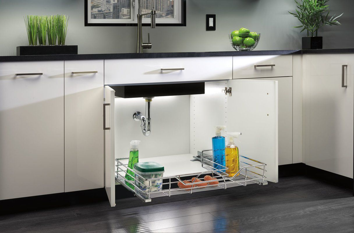 easy under sink storage ideas