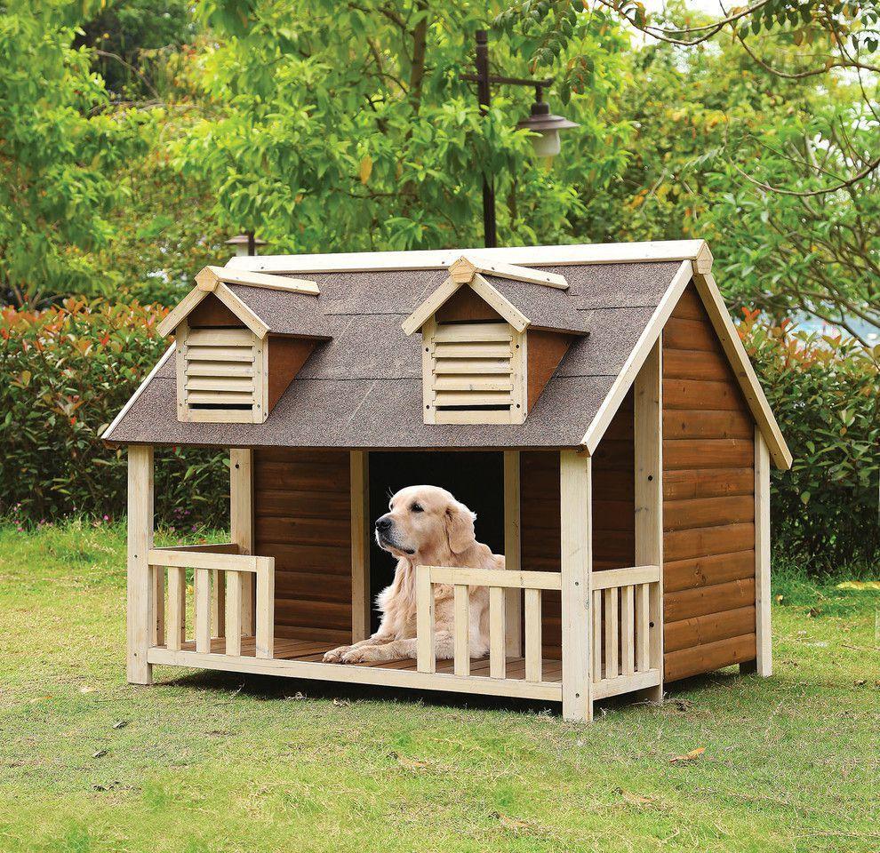 rufus cream oak dog house