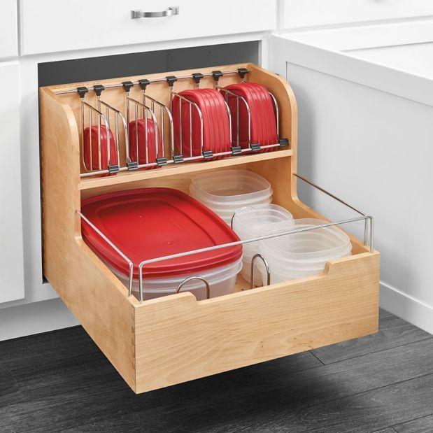 food storage container drawer organizer