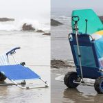 The Mac Sports Beach Lounger Chair Transforms Into A Cart In Seconds