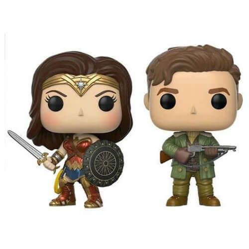 Steve Trevor et Wonder Woman EXC Pop!  figurines en vinyle pack de 2
