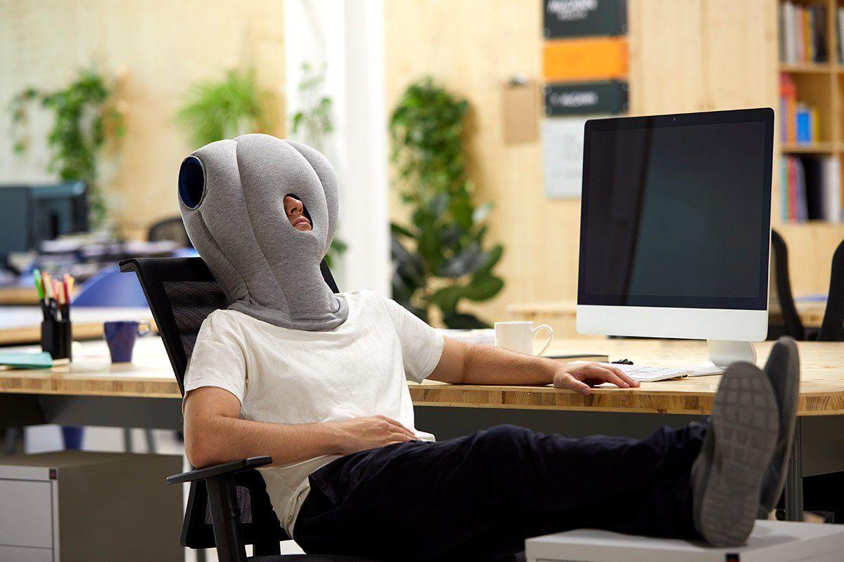 ostrichpillow creates portable pillows