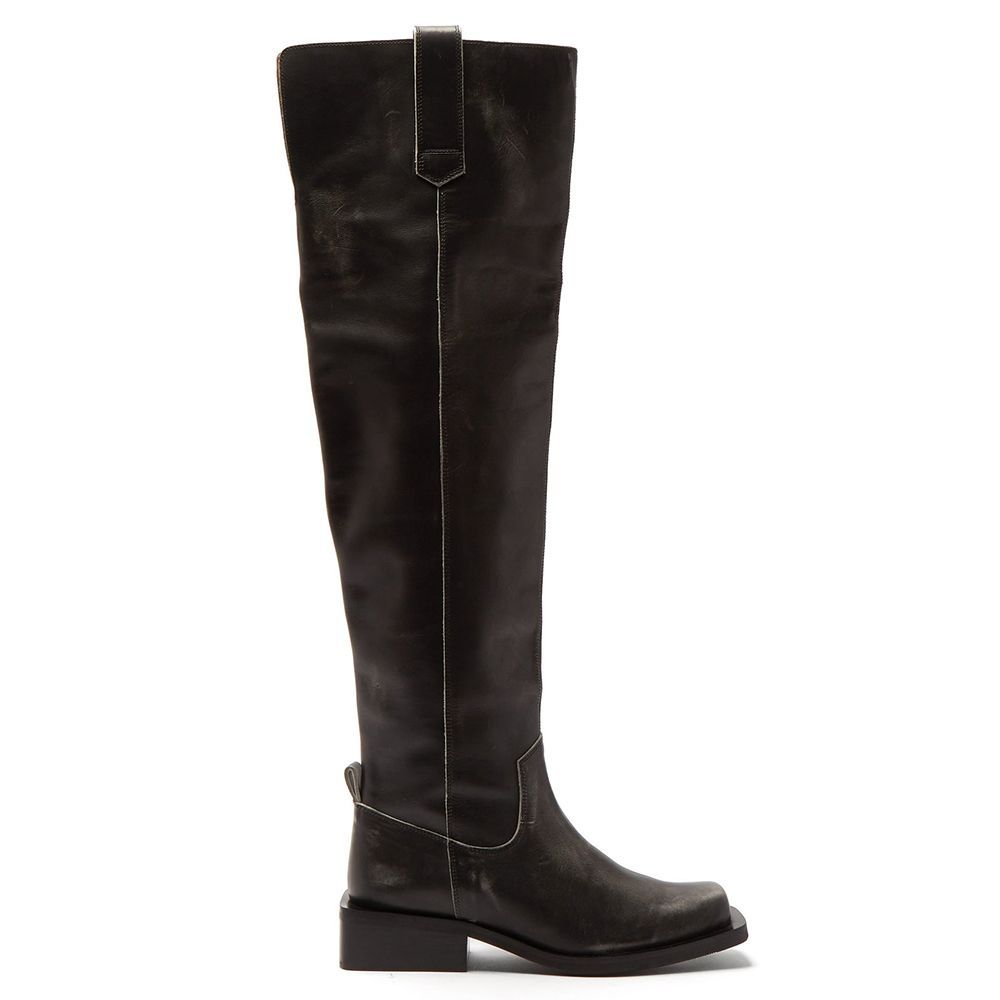 Square-Toe Over-the-Knee Boots