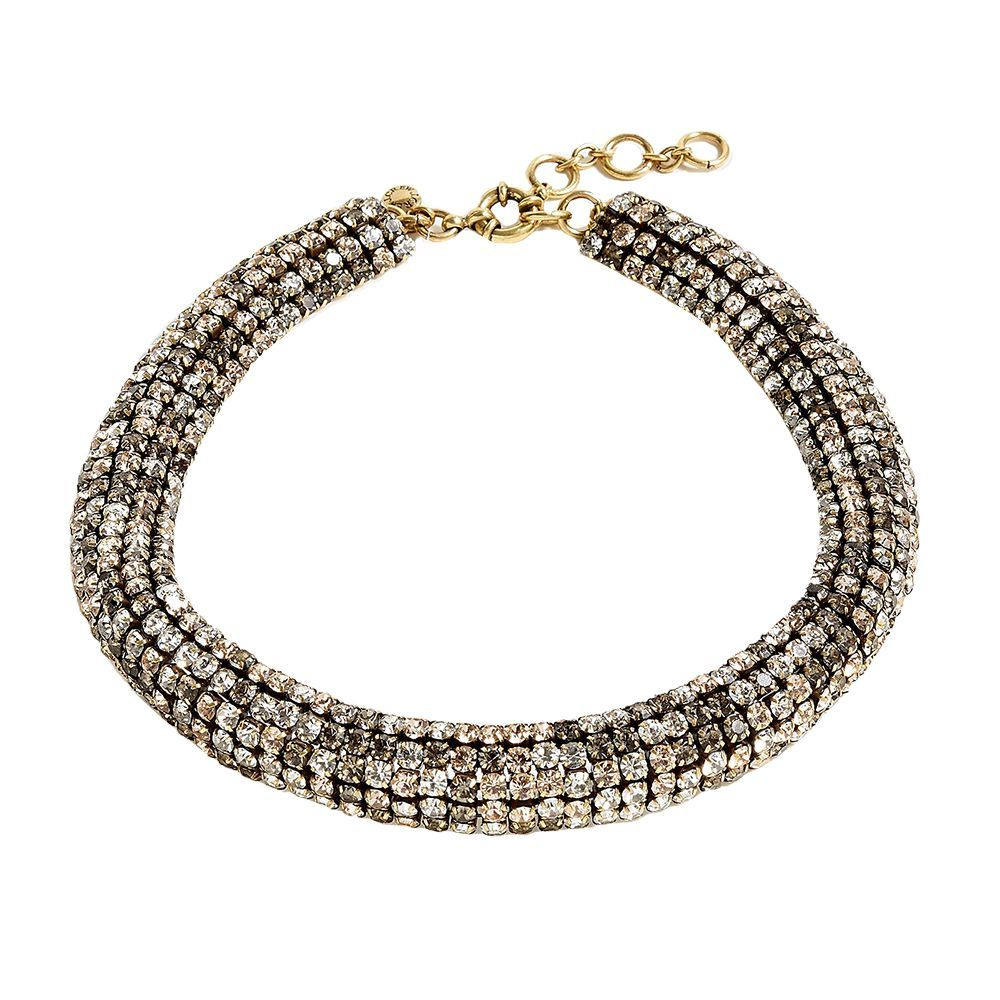 Crystal Chain Collar Necklace