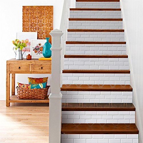 15 Of The Best Staircase Stickers And Tile Decals On Amazon | Stick On Stair Runners | Hardwood | Stick Serged | Beige Carpet | Wood | Carpet Tiles