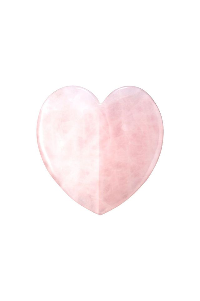 Rose Quartz Heart Facial Gua Sha