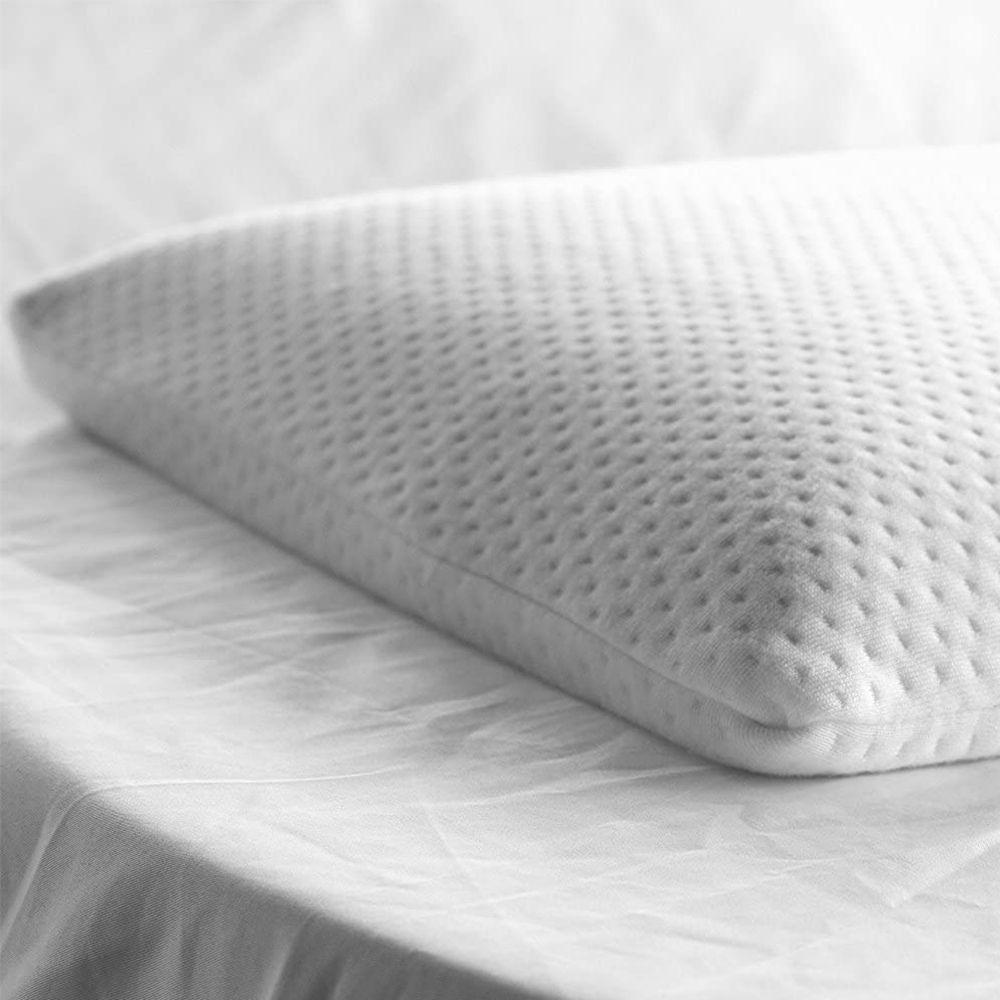 elite rest ultra slim sleeper firm memory foam pillow