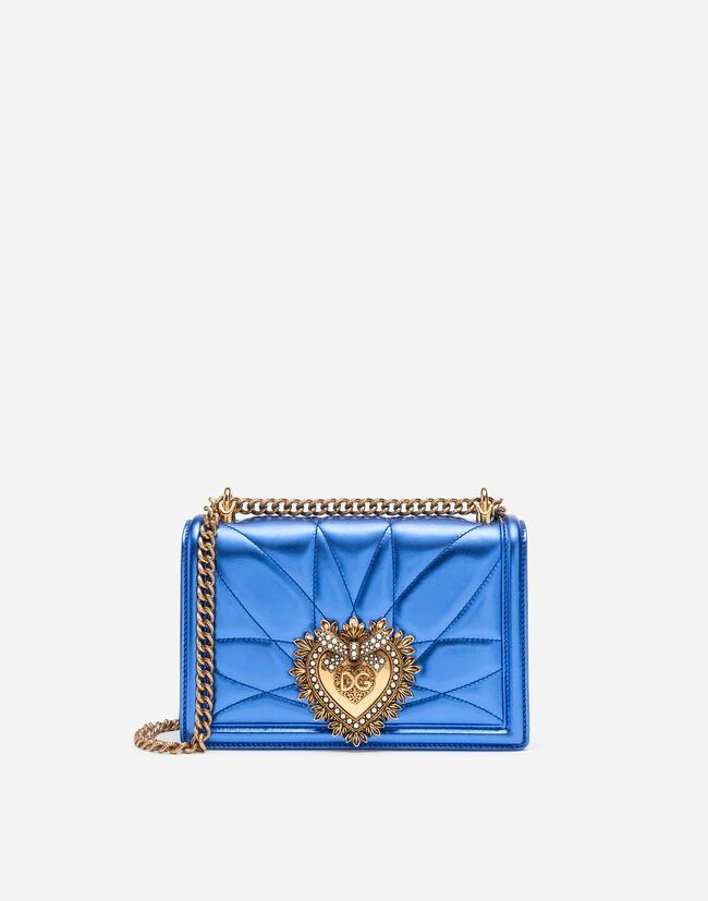 MEDIUM BAG IN BLUE QUILTED NAPPA MORDORÉ