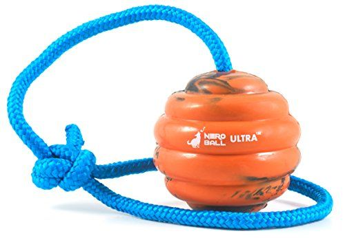 Nero Ball Ultra TM - Dog Training Ball On A Rope - Exercise and Reward Toy for Dogs