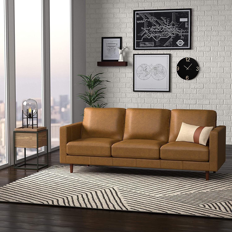 revolve modern leather sofa